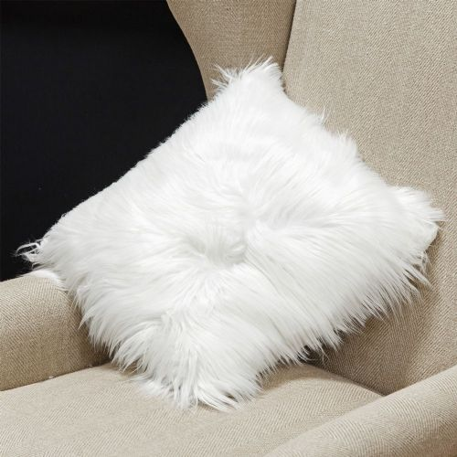 Faux Fur Winter Wonderland Cushion Christmas Cosy Decor